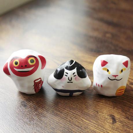 張子 招き猫/山芋猿/力士