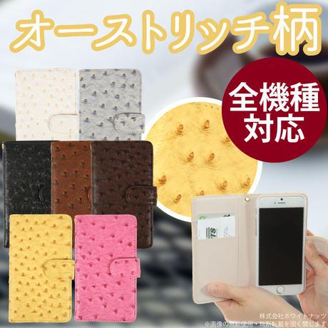 スマホケース iPhoneケース 手帳型 全機種対応 オーストリッチ  スマートフォン