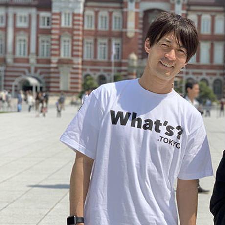 What's? .TOKYO Tシャツ(ホワイト×ブラック)