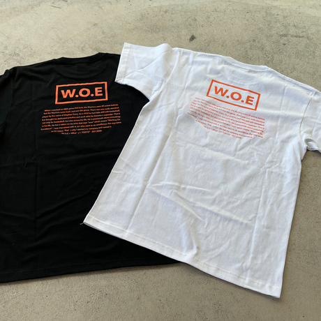 W.O.E BASIC black T-Shirt