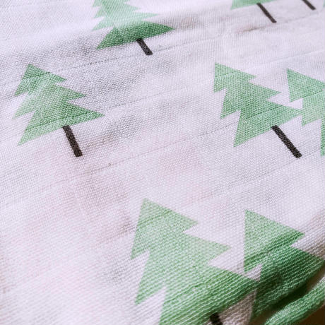 Tree print muslin blanket (green) / ガーゼおくるみ