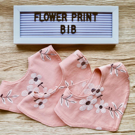 FLOWER PRINT baby bib