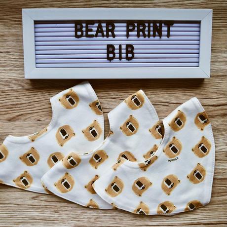 BEAR PRINT baby bib