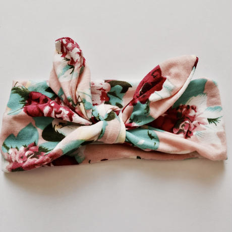 Floral printed hairband (pink) / 花柄ヘアバンド(ピンク)
