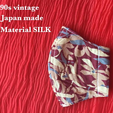 ◼️親子セット◼️ Vintage necktie upcycle mask  (flower)