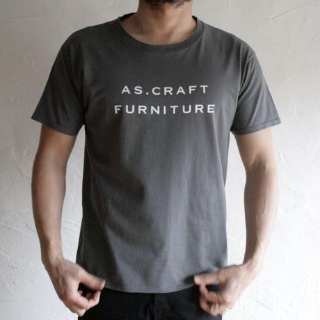 AS.CRAFT FURNITURE/ロゴTシャツ(チャコール)