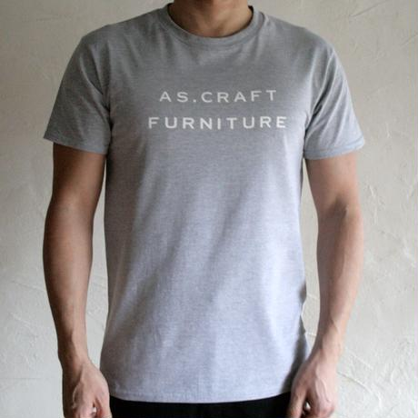 AS.CRAFT FURNITURE/ロゴTシャツ(グレー)