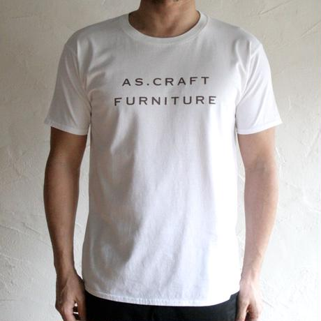AS.CRAFT FURNITURE/ロゴTシャツ(ホワイト)