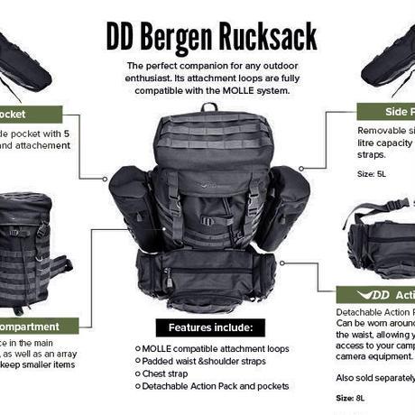 DD Bergen Rucksack ベルゲンリュックサック ブラック DD hammocks 社 直輸入品 DDハンモック