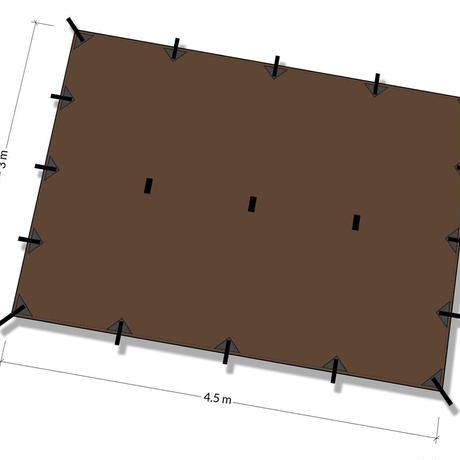 DDHammocks DDタープ XL 4.5m x 3m コヨーテブラウン DDハンモックス社