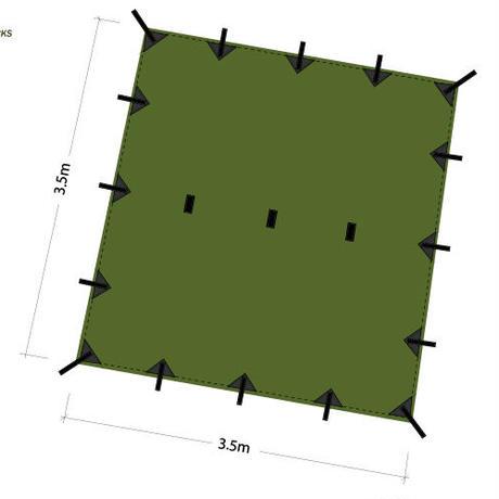 DDHammocks DDタープ 3.5x3.5  オリーブグリーン DDハンモックス社