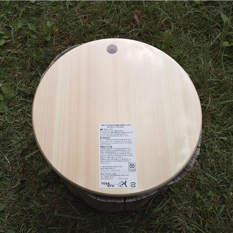 土佐龍 四万十ひのき 丸いまな板 300×15mm