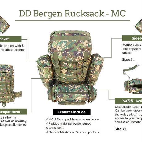 DD Bergen Rucksack ベルゲンリュックサック MC マルチカモ DD hammocks 社 直輸入品 DDハンモック