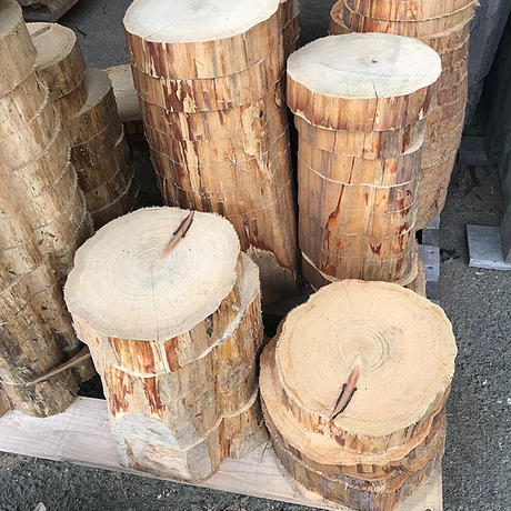 薪割り台 切り株 ひのき 丸太 約28x28cm 厚さ約10cm