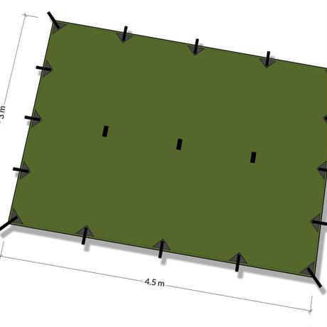 DDHammocks DDタープ XL 4.5m x 3m オリーブグリーン DDハンモックス社