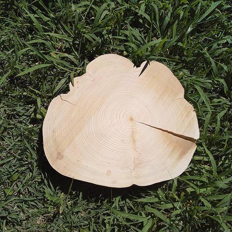 薪割り台 切り株 ひのき 丸太 約31x29cm 厚さ約5cm