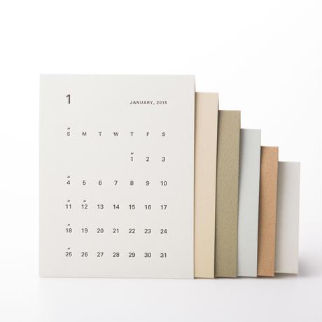自分で組み立てる活版カレンダー 2017