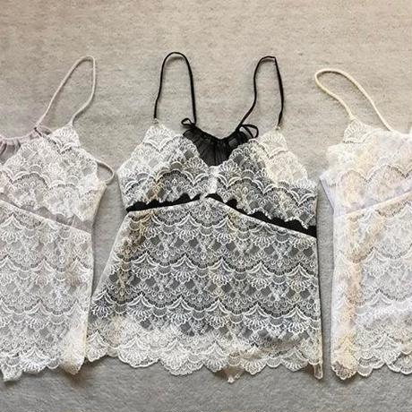 MIX lace  camisoles  dot ver.