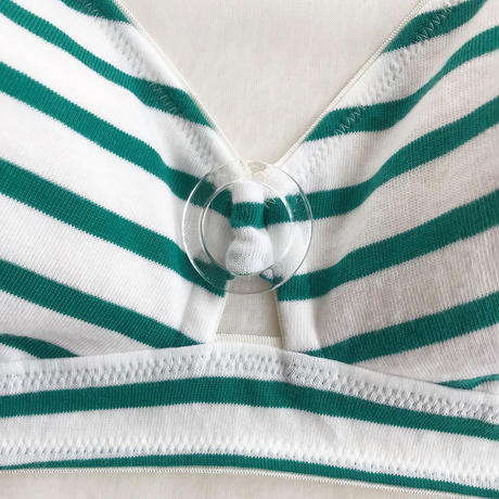 Border jersey bra