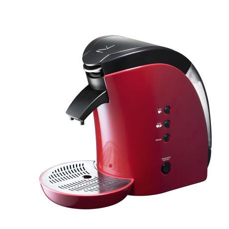 Brunopasso 60mmカフェポッド&コーヒー粉対応コーヒーメーカー レッド P-60-R
