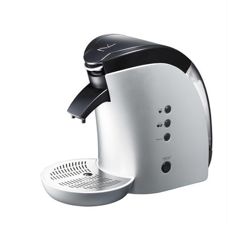Brunopasso 60mmカフェポッド&コーヒー粉対応コーヒーメーカー シルバー P-60-S