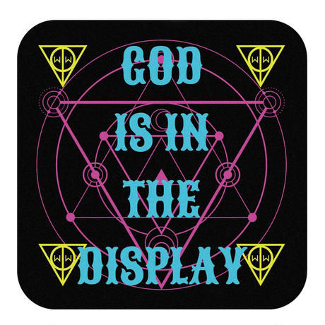 「GOD IS IN THE DISPLAY」ハンドタオル
