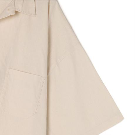 Cotton/Linen Slab Big H/S Shirt