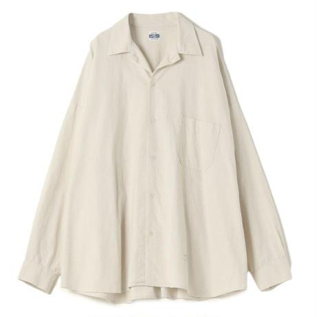 Slab Plain Weave Big Shirt