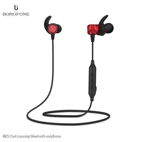 Bluetooth ワイヤレス イヤホン 高音質 重低音 【レッド】マイク搭載 通話可能