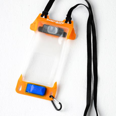 完全防水IPX8 ポンプ付き 防水スマホポーチ