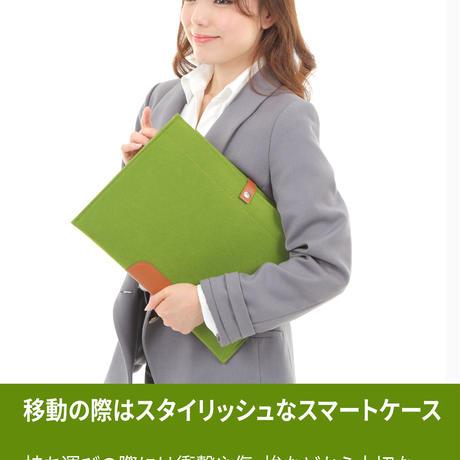 【衝撃吸収 スリーブケース】ノートパソコン ケース MacBook Air/MacBook Pro Reina 13インチ / ラップトップ/ウルトラブック フェルト  グリーン
