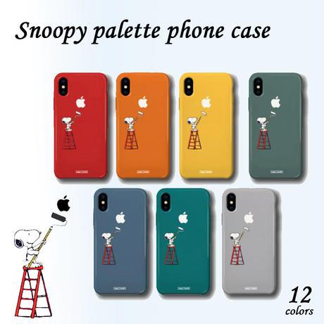 【超大人気!!】スヌーピーパレットスリムケータイケース スマホ iPhone S8 Galaxy note9 XR Snoopy