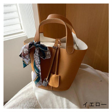★soldout★バケットバッグ ハンドバッグ ス スカーフ・キー チャーム付 ma030