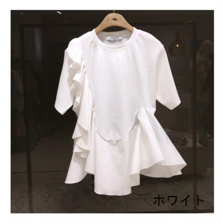 ★soldout★袖フリル デザイン トップス ma06