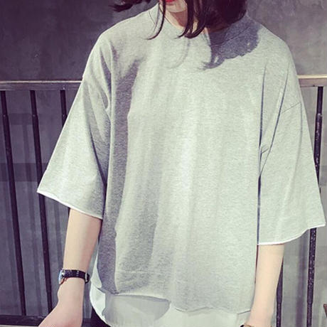 ★soldout★重ね着風カットソーTシャツ ma015