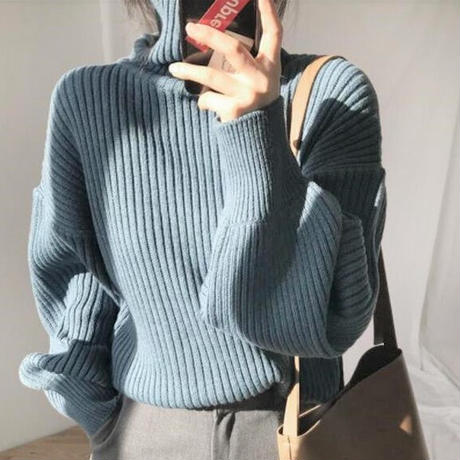 ★soldout★タートルネック ニットセーター 3カラー ma027