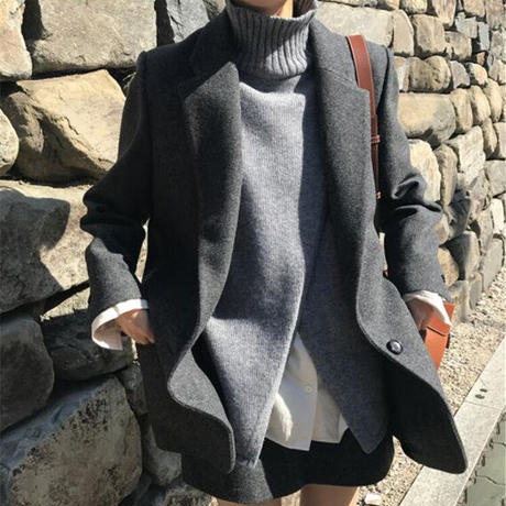★soldout★ハイネック カットソー ベスト ニットセーター ma017
