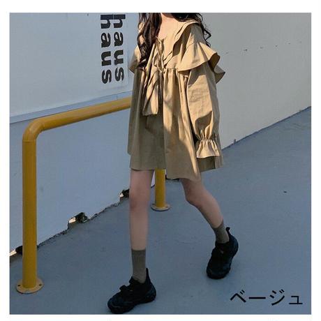 ★soldout★フリル チュニック シャツ ロングスリーブ ma022