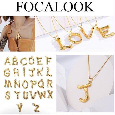 ◆即納◆ゴールド イニシャルネックレス ac03