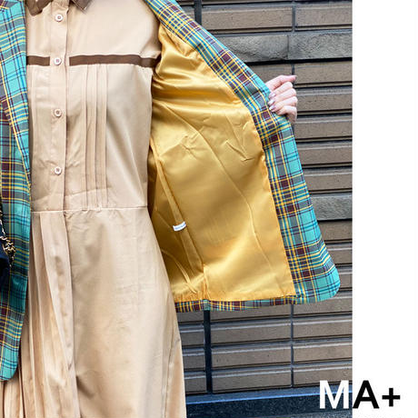 ★soldout★レトロチェック バイカラー ジャケット ma019