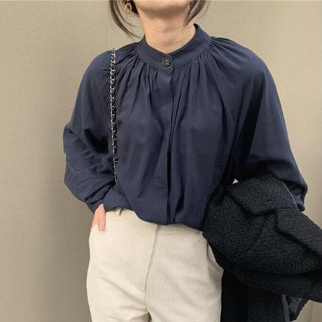 ★soldout★レトロ ロングスリーブブラウス ma012