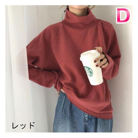 ★soldout★ざっくりニット ハイネックセーター ma036