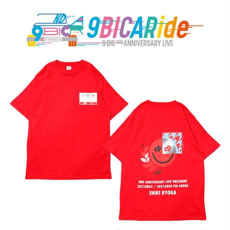 【9bic 2nd Anniversary Live -9BICARide-】2ND ANNIVERSARY TEE(レッド)