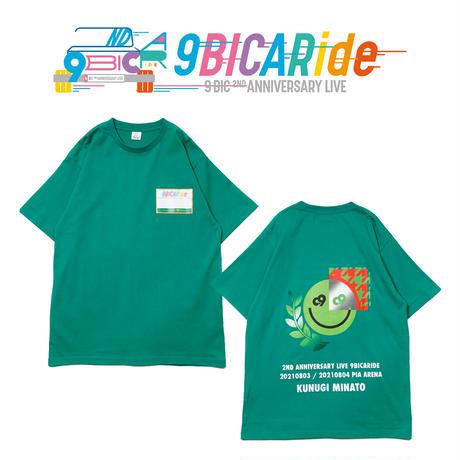 【9bic 2nd Anniversary Live -9BICARide-】2ND ANNIVERSARY TEE(グリーン)