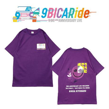 【9bic 2nd Anniversary Live -9BICARide-】2ND ANNIVERSARY TEE(パープル)