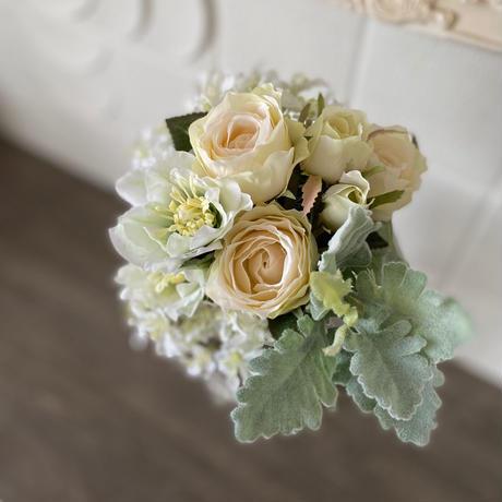 お花のセット ホワイト&グリーン