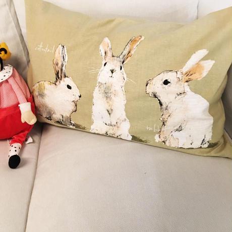 兔 枕カバー まくらカバー ピローケース 北欧 おしゃれ かわいい シンプル
