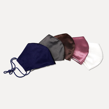 【新色/アジャスター付き】[鶴岡シルク]のシルクマスク