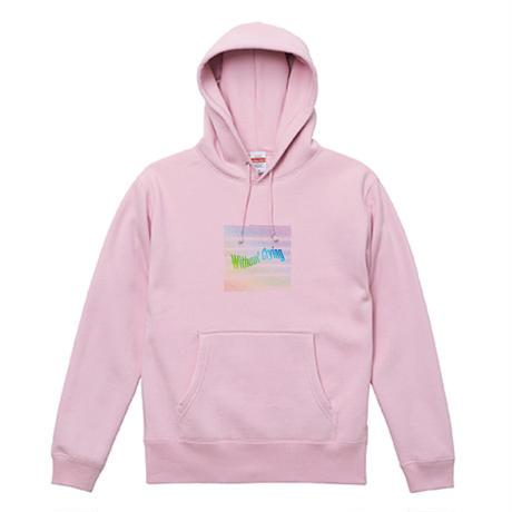 Rainbow LOGO Hoodie [pink]