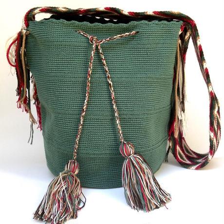 Wayuu Mochila Bag mossgreen Colombia ワユー バッグ モスグリーンwy-0010